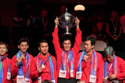 """Ketika Indonesia Memaksa """"Roda"""" China Berputar, Hasil Juara Piala Thomas!"""
