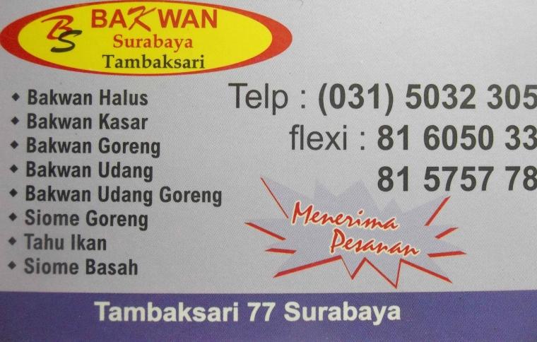"""Bakwan Tambaksari """"Jagonya"""" Warung Bakwan Di Surabaya"""