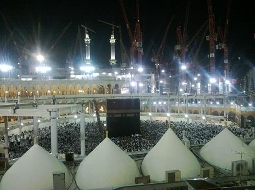 Ka'bah dan Foto Terbaru Pembangunan Lintasan Tawaf 5 Juli 2013