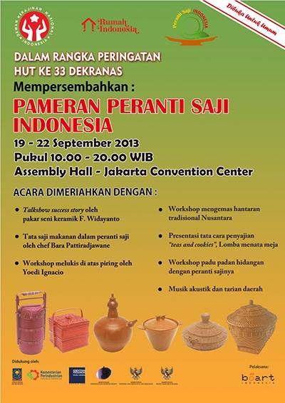 Pameran Peranti Saji 19-22 September 2013 JCC Jakarta
