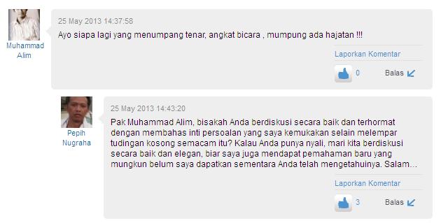 Pepih Nugraha Numpang Tenar Kasus PKS (LHI-DM)