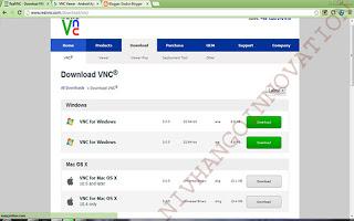 Remote Desktop PC Menggunakan realVNC dengan VNC viewer Android