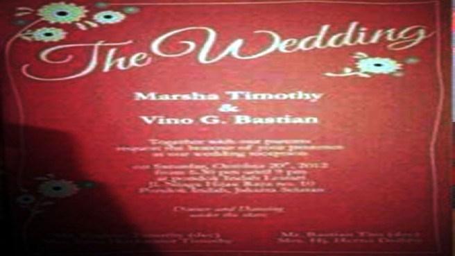 Undangan Merah pernikahan Vino Bastian dan Marsha Timothy beredar luas