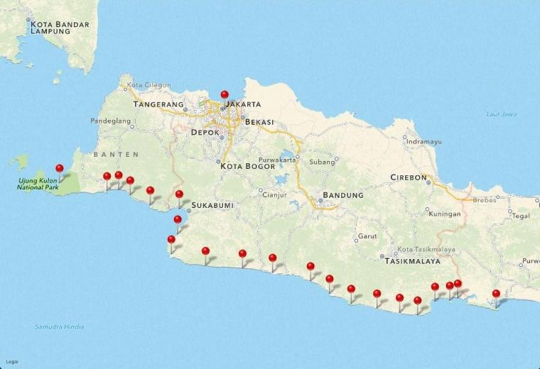 Indahnya Pantai Selatan Pulau Jawa Bagian Barat