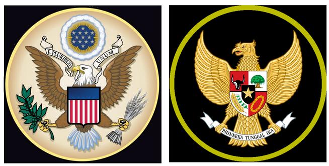 Kemiripan Lambang RI dan AS, Kebetulan Saja?