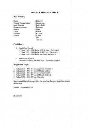 Meng-update Curriculum Vitae (CV) oleh Wienndy Dy