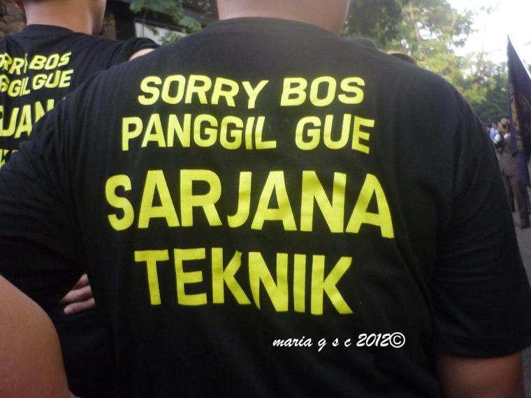Sorry Bos, Panggil Gue Sarjana Teknik