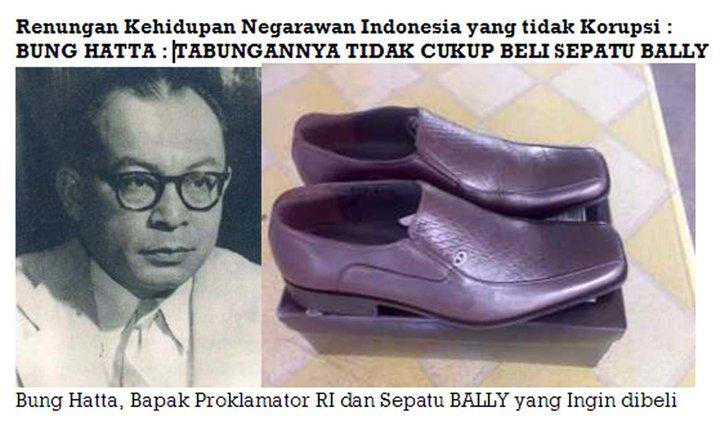 Keteladanan Bung Hatta dan Kisah Tak Mampu Beli Sepatu Bally