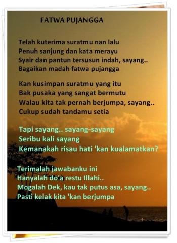 Fatwa Pujangga Lagu Melayu Lama Nan Indah Kompasianacom
