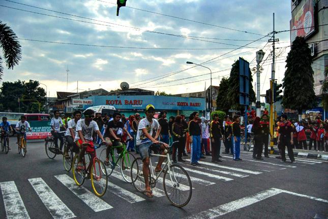 Rekaman Foto Hari Bebas Kendaraan di Klaten