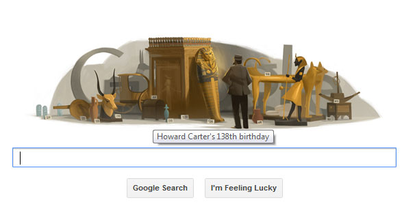 "Google Doodle Hari Ini Peringati HUT Penemu Makam ""King Tut"""