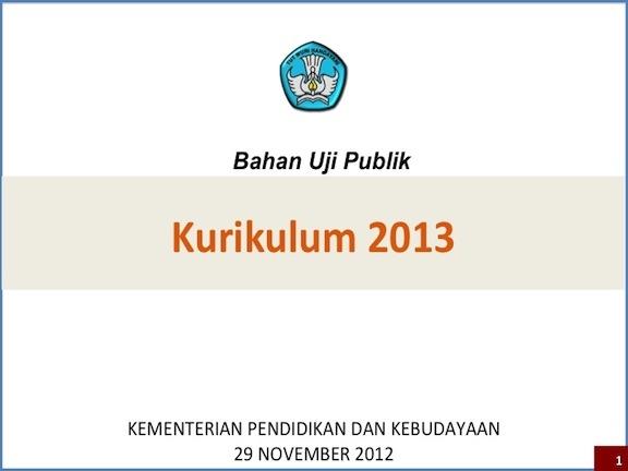 Draft Resmi Kurikulum 2013