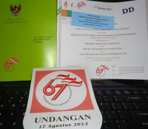 Undangan Upacara 17 Agustus 2012 di Istana Merdeka