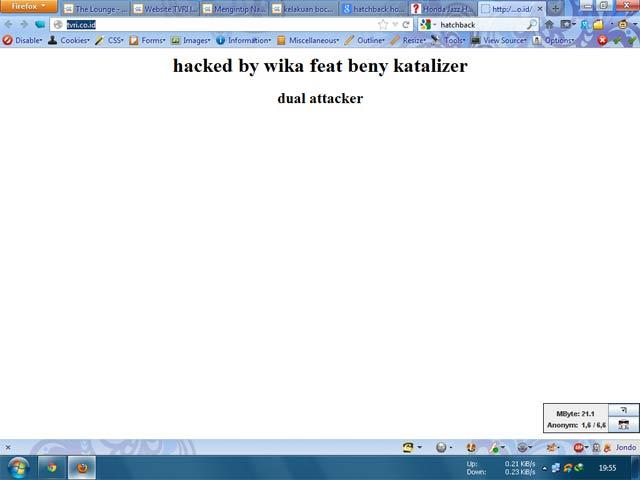 Situs Resmi TVRI Di-hack Lagi!