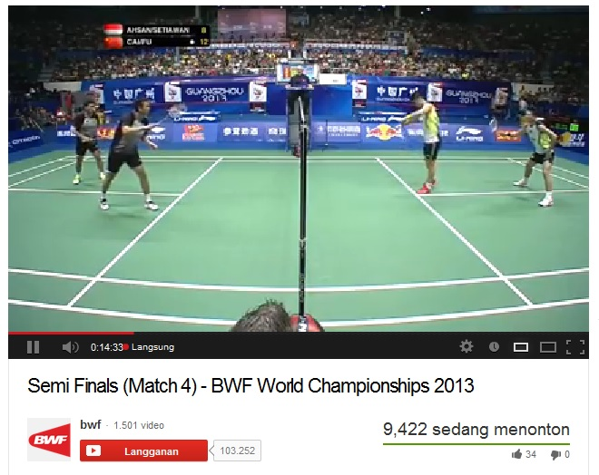 Ahsan/Hendra Melaju ke Final BWF World Championship 2013