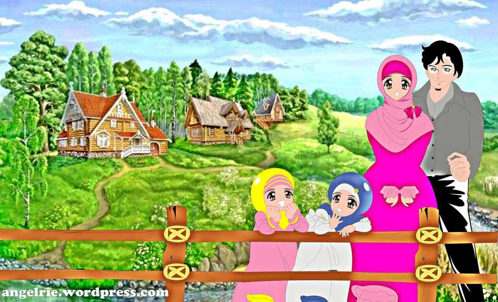 Mirzan Blog S Paling Baru Gambar Kartun Keluarga Muslim Dengan 2 Anak Perempuan