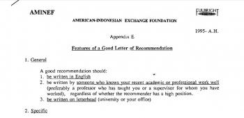 Mengupas Surat Rekomendasi Untuk Melamar Beasiswa
